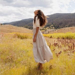 Christy Dawn Laurel Skirt Sepia Plaid
